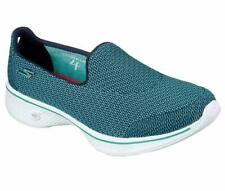 SKECHERS Go Walk 4 Trainers Shoes Teal Size UK 4.5 Ladies