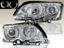 02-05 BMW E46 3-SERIES 323i 325i 328i 330i 4 DOOR PROJECTOR HEADLIGHTS CLEAR