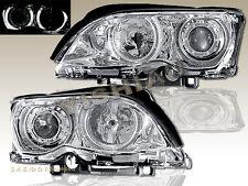 02-05 BMW E46 3-SERIES 323i 325i 328i 330i 4 DOOR PROJECTOR HEADLIGHTS CLEAR