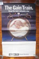 1968 The Gain Train Inter City Sleepers Original Railway Travel Poster