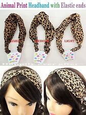 3 PCs Animal Print Headband- Light, Medium, Dark Leopard Print *US SELLER*