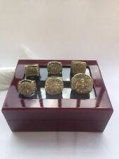 6pcs/set Los Angeles Lakers Championship Rings Size 11 In wood Box