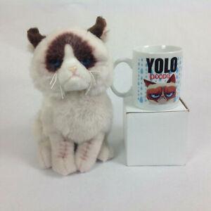 "Grumpy Cat Stuffed 9"" Stuffed Animal Plush with Brand New Collectors Mug YOLO"
