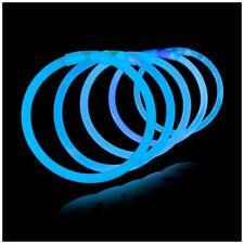 """1000 10"""" Glow Sticks Bracelets Party Light BLUE"""