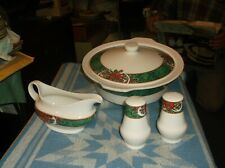 5 Piece Gibson Marble Holly Serving set