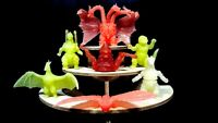 VINTAGE 7 RUBBER KINKESHI KESHIGOMU ULTRAMAN MONSTER KAIJU FIGURE SET 2