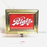 Vintage Blatz beer sign ROG reverse glass metal register topper bar old vintage