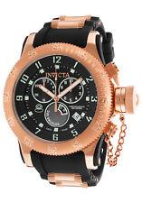 New Mens Invicta 15567 Russian Diver Chronograph Black Rubber Strap Watch