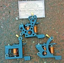 SET OF 3 BORDER TATTOO MACHINES LINER/ PACKER & SHADER IRON FRAMES CUSTOM COILS