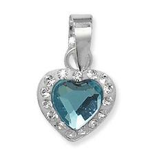 Collane e pendagli di bigiotteria blu cristallo cuore