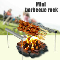Portable Camp Travel Grill Folding BBQ Mini Stainless Steel Outdoor Grilling US