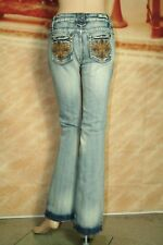 ZCO Jeans skinny flare leg low rise light blue remix wash size 7