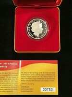 2007 $5 Fine Silver Proof Coin. - Year of the Surf Lifesaver - #00753