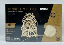 ROKR Pendulum Clock Mechanical Wooden Gear Puzzle Kit - NEW - FREE SHIPPING!!!