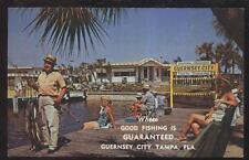1966 POSTCARD TAMPA FL/FLORIDA GUERNSEY CITY MOBILE HOME VILLAGE PROMO AD