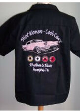 HOT Women GENIAL Cars CADILLAC Camiseta ROCKABILLY NOSE ART E. E. U. U . Car V8