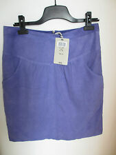 Jupe violette en cuir suedé marque Kookai neuve avec étiquette taille 38