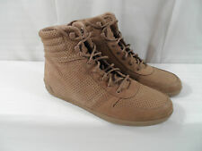 UGG Australia Em-Pire Mens Fawn Tan Perforated Leather Sneakers Sz 11/43.5 NWOB