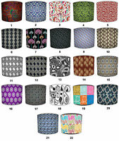 Lampshades Ideal To Match Retro Paisley Pattern Cushions, Paisley Retro Curtains