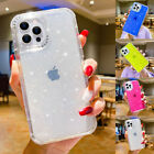 For iPhone 13 Pro Max 12 11 XR XS 8 7 Bling Clear Hybrid Bumper Phone Case Cover