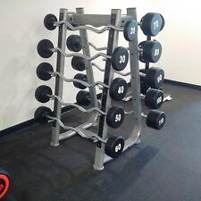 SPARTAN Urethane Olympic Barbell Set 20-110 Lb Set -- EZ Curl  Bar