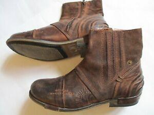 YELLOW CAB Herren Leder Boots Schuhe Gr. 42