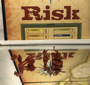 2003 PARKER BROS GAMES: RISK GAME PIECE LOT (RED FIGURES) PRE OWNED
