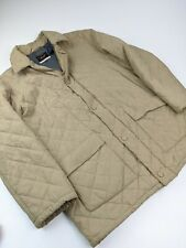 Paul And Shark Yachting Light Brown Tan Biege Quilted Long Coat Jacket Sz 3XL