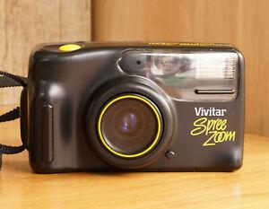 Vivitar Spree Zoom Point & Shoot 35mm Film Camera  Functional