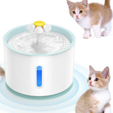 2.4L Automatic Pet Led Water Fountain Cat Dog Drinking Dispenser