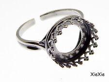 Ringrohling Fingerring Öse 19mm Silber #U103//6