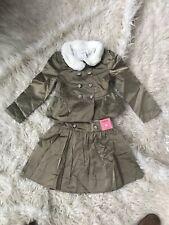 New Gymboree City Kitty Gold Jacquard Jacket And Skirt Set!! Size 6