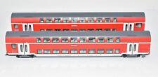Fleischmann H0 Doppelstock- Personenwagen Set 2tlg. DB AG Ep. V rot aus 6367