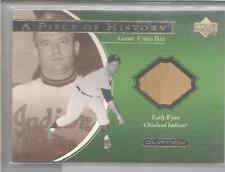 2001 Ovation Baseball Early Wynn A Piece Of History Game Used Bat Card # EW