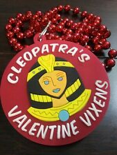 "2020 Mardi Gras Krewe Of Cleopatra Light-Up Rubber ""Valentine Vixens� Theme Bead"