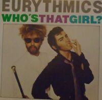 """EURYTHMICS - Who's That Girl ~ 7"""" Single PS"""