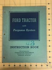 Ford Tractor with Ferguson System Instruction Book Owners Manual 1941