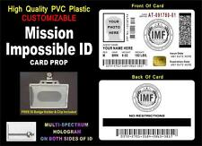 Mission Impossible ID Card Prop (PVC) ~ >>>CUSTOMIZABLE W/ YOUR PHOTO & INFO<<<