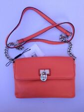 Calvin Klein Handbag Modena Crossbody orange terracoto leather gold purse new