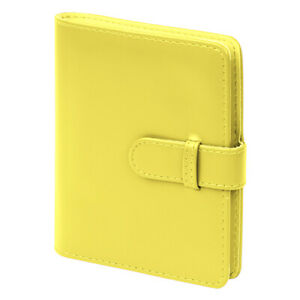 Photo Album for Fujifilm Instax Mini Film PU Leather 64 Pockets Yellow