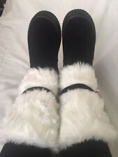 Women's Faux Fur Platform Flat Snow Boots (7&8 black, 8 dark red, 8&9 pink)