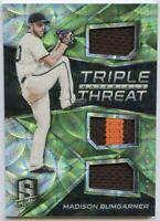 2017 Panini Spectra MADISON BUMGARNER Triple Materials Threat Patch Relic SP /25