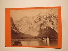 König oder Bartholomäus-See bei Berchtesgaden - 1873 / CDV