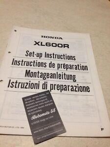 Honda XL600R F XL600 R XL 600R Instrucciones Desde Preparación Set - Hasta