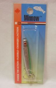 Gibbs 1/2 oz #12 Nickel Green Minnow Jig Fishing Lure Trout Salmon Steelhead