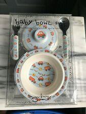 NIB Sugar Booger by ORE Baby Bowl Set (Bowl, lid, fork & spoon)