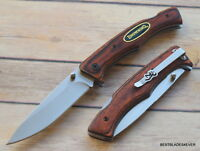 BROWNING PAKKAWOOD HANDLE LOCK-BACK FOLDING KNIFE WITH POCKET CLIP BRAND NEW!!!