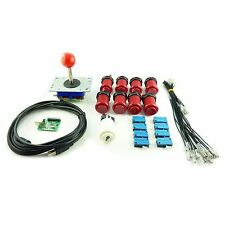 Kit Joystick Arcade 1 player Button American Red Card USB Mame usb