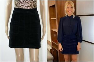 ex Warehouse Cord A-Line Mini Skirt Holly Willoughby
