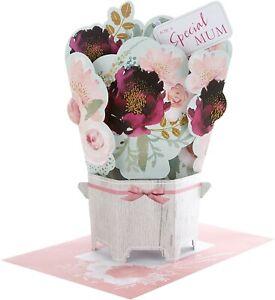 "Hallmark 3d Pop Up Flower Bouquet"" Mother's Day Card"